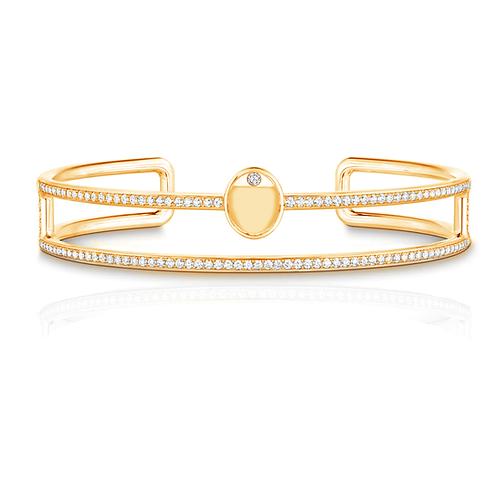 Aegis Studded Double Band Bangle Bracelet