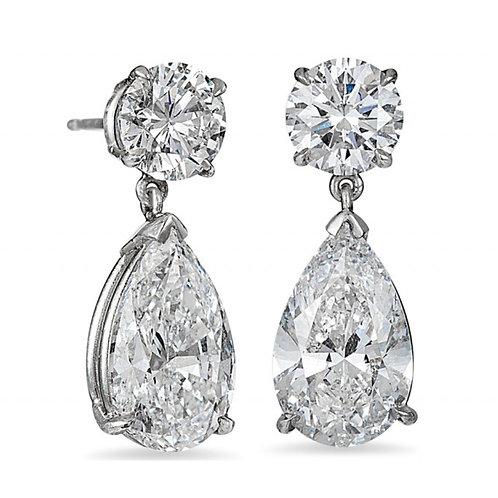 Vintage Style Classic Moissanite Drop Earrings