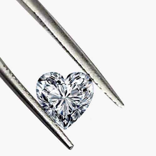 Heart Shape DEF/VVS1 Grade Colorless Loose Moissanite Gemstone