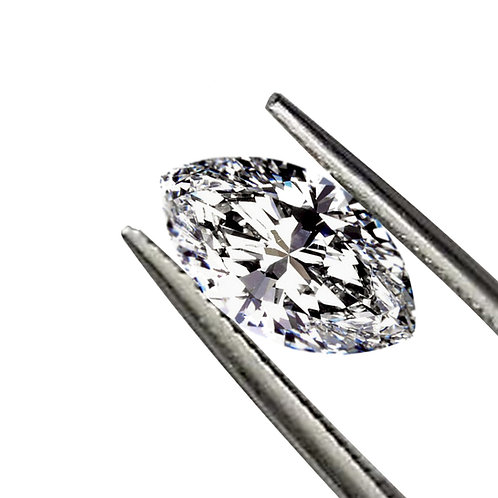 Marquise Cut DEF/VVS1 Colorless Loose Moissanite Gemstone