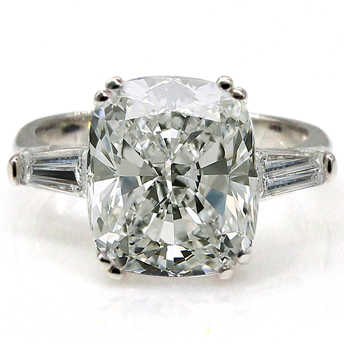 1 carat Elongated Cushion Cut Moissanite Engagement Ring