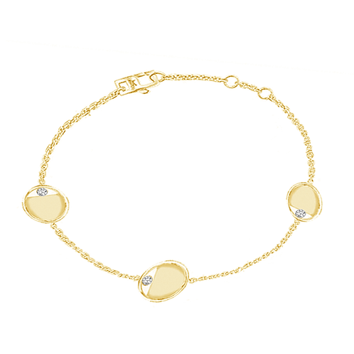 Aegis Chain Link Bracelet Solid 14k Gold