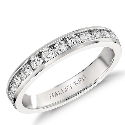 1.72 carat Channel-Set Eternity Wedding Band in 14k Yellow Gold