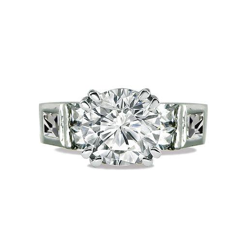 4.95ct DEW Round Brilliant Cut Multi-Stone Engagement Ring