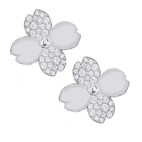 Gienah Single Bloom Stud Moissanite  Earring