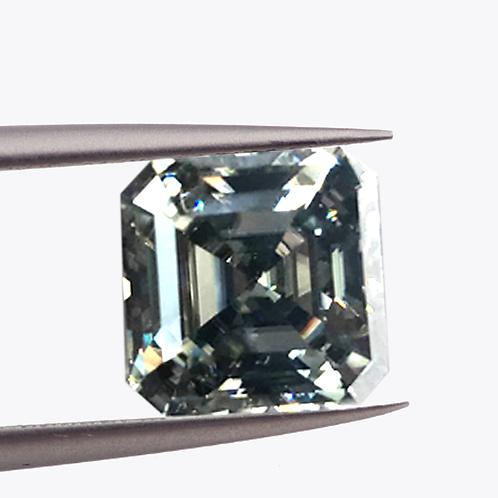 Premium Light Gray Asscher Cut Moissanite Loose