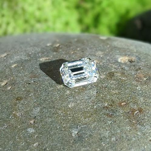 Premium Colorless DEF/VVS1 Emerald Cut Moissanite, Loose