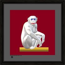 hominid image art print