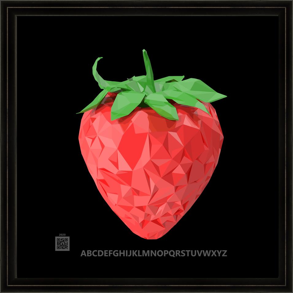 CryptoLowPolyStrawberry930202012x12BFR.p