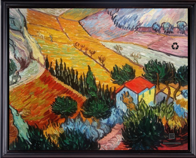 scenevincentvangoghLandscape-with-House-