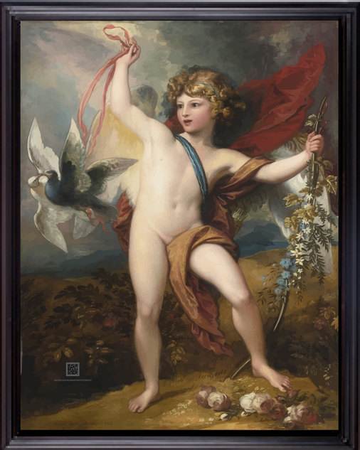 MYTHBenjamin_West_-_Cupid_Releasing_Two_