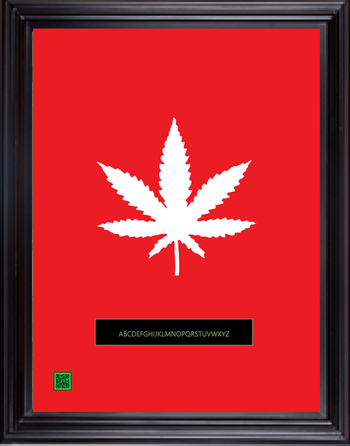 framedcannabisredwhite11X14.png