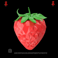 pushpinsampleCryptoLowPolyStrawberry9302