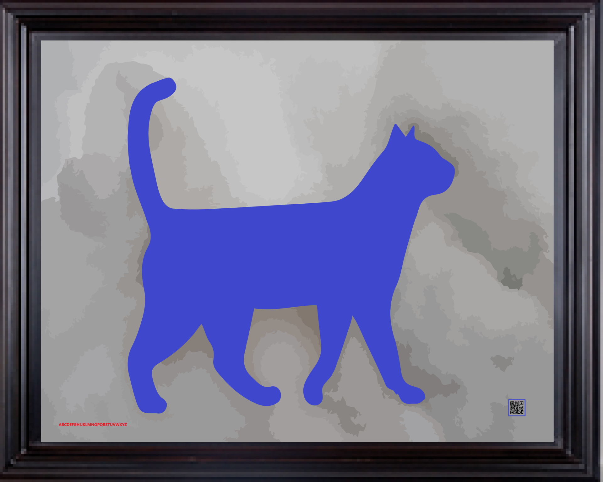 framedcatbluesno16X20.png