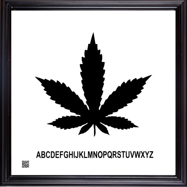 framedcannabisbw12X12.png