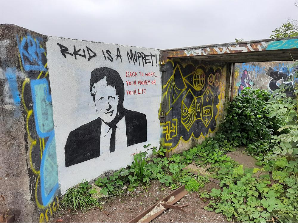 Graffiti at No. 6 Heavy Anti-Aircraft Battery, Bristol, UK