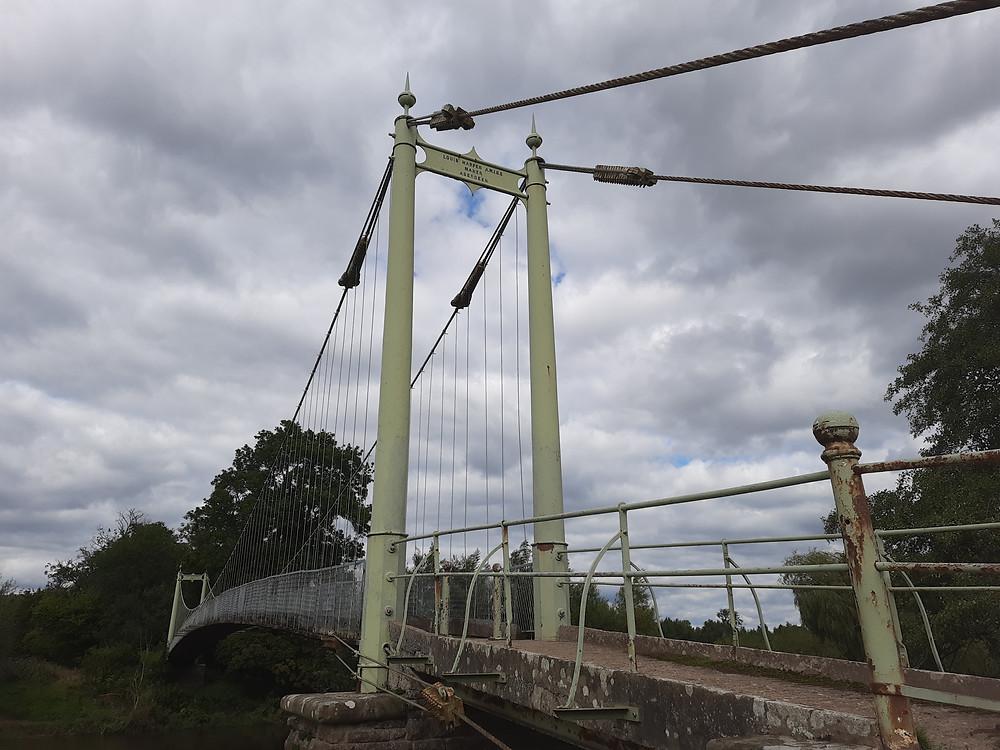 Sellack Suspension Footbridge, Herefordshire, UK