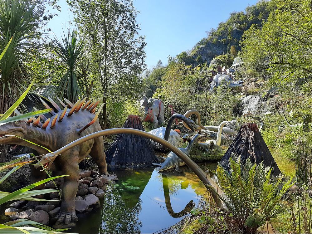 Dinosaur Park, National Show Caves, Wales, UK