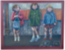 Wee smashers scottish children acrylic painting