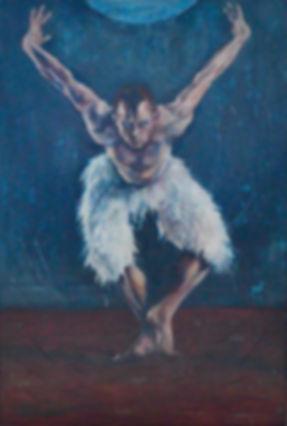 menace of the swan lake dancer oil painting