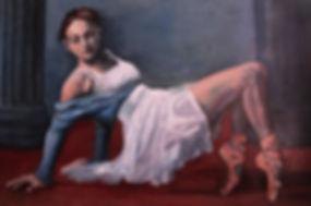 agony and ecstasy ballerina italy oil painting