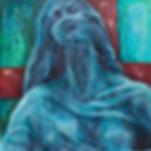 Madonna female oil painting of statue in paris