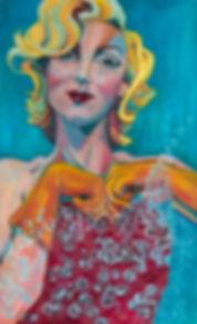 Marilyn monroe housework washing up oil painting