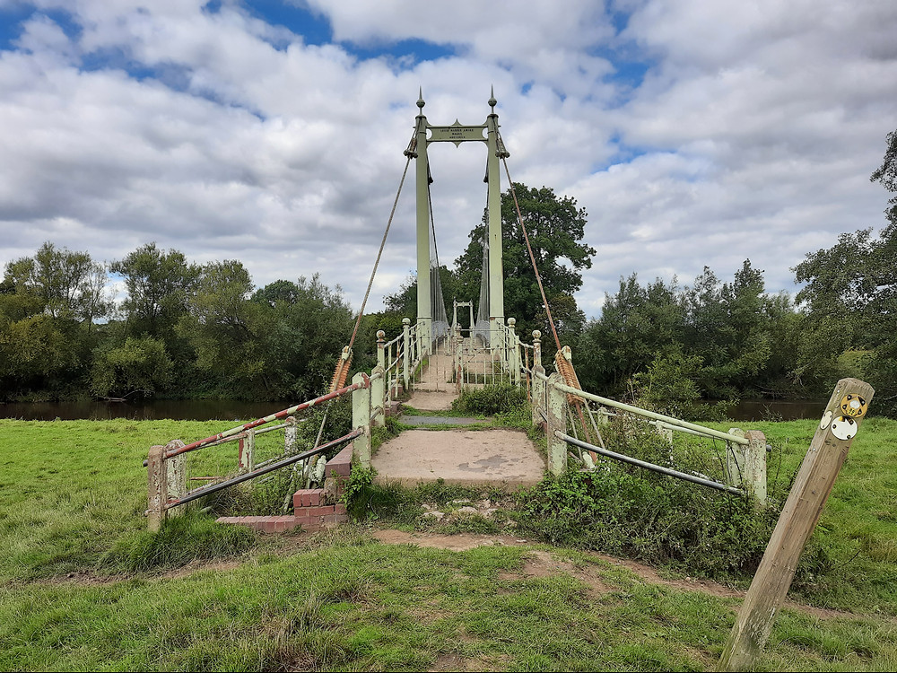 Sellack Suspension Bridge, Herefordshire, UK