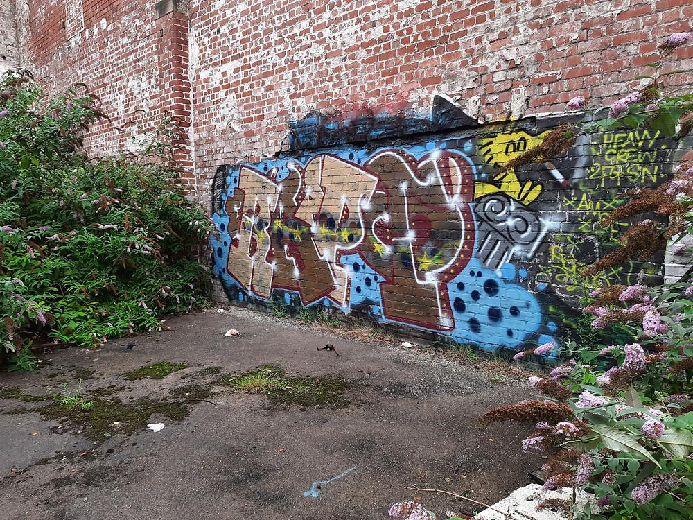 Graffiti at The Malt House, Newport, Wales, UK