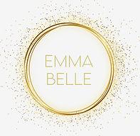 emma belle logo square gold on off white