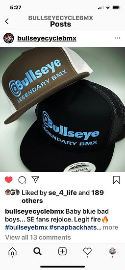 BULLSEYE LEGENDARY BMX snap backs hats