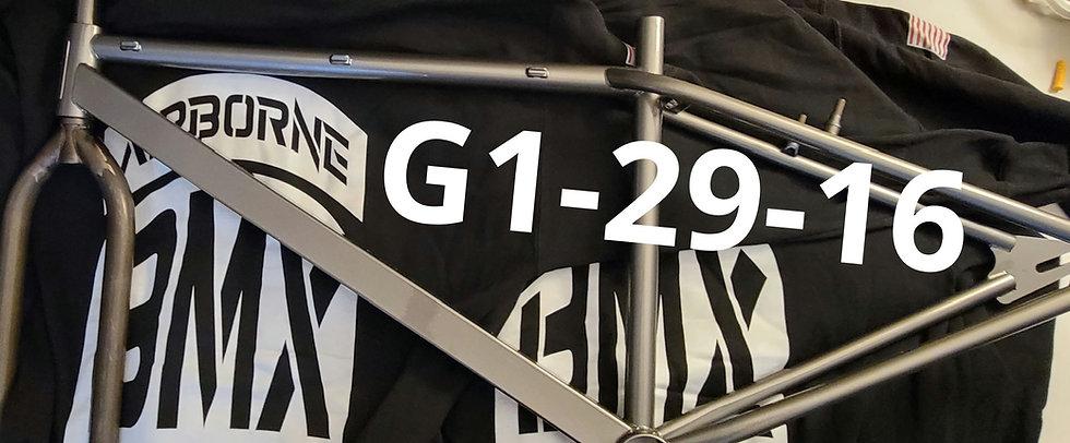 G1-29-16 chromoly 4130 steel A BMX Geronimo limited edition
