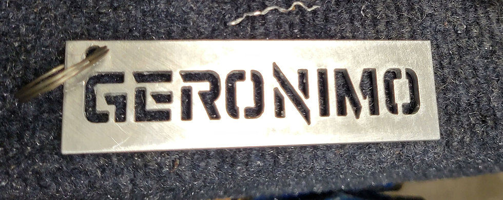 Geronimo Brake Bridge keychains. 6061