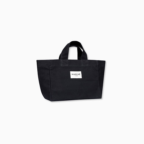 BLACK WAXED CANVAS PETIT LIDO BAG
