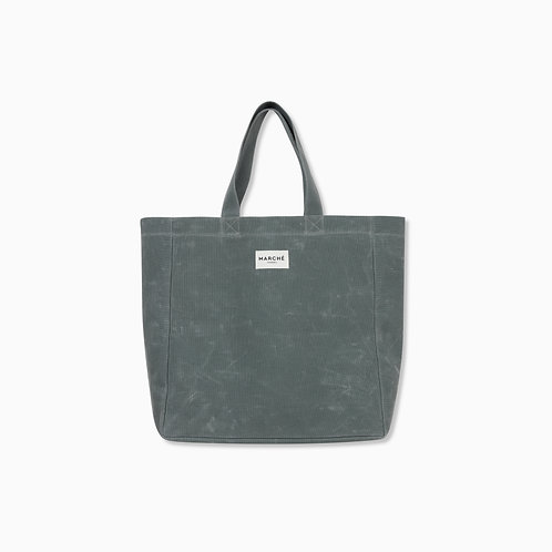 LUNAR GREEN WAXED CANVAS OVERSIZE LIDO BAG