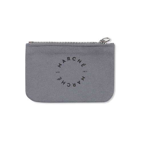 GREY CANVAS PETIT CLUTCH