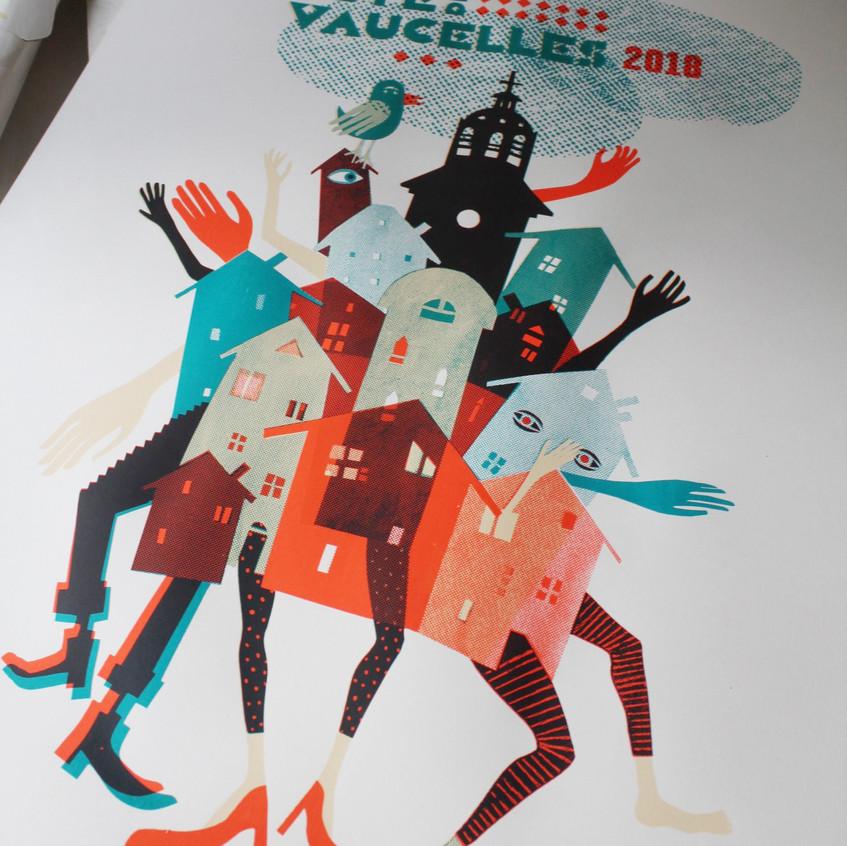 Estampe Fête de Vaucelles 2018 4 cou