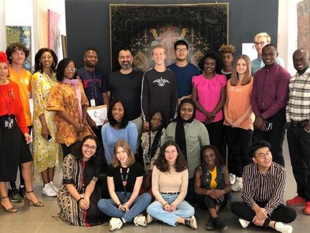 HS Art Visits The Moeshan Gallery