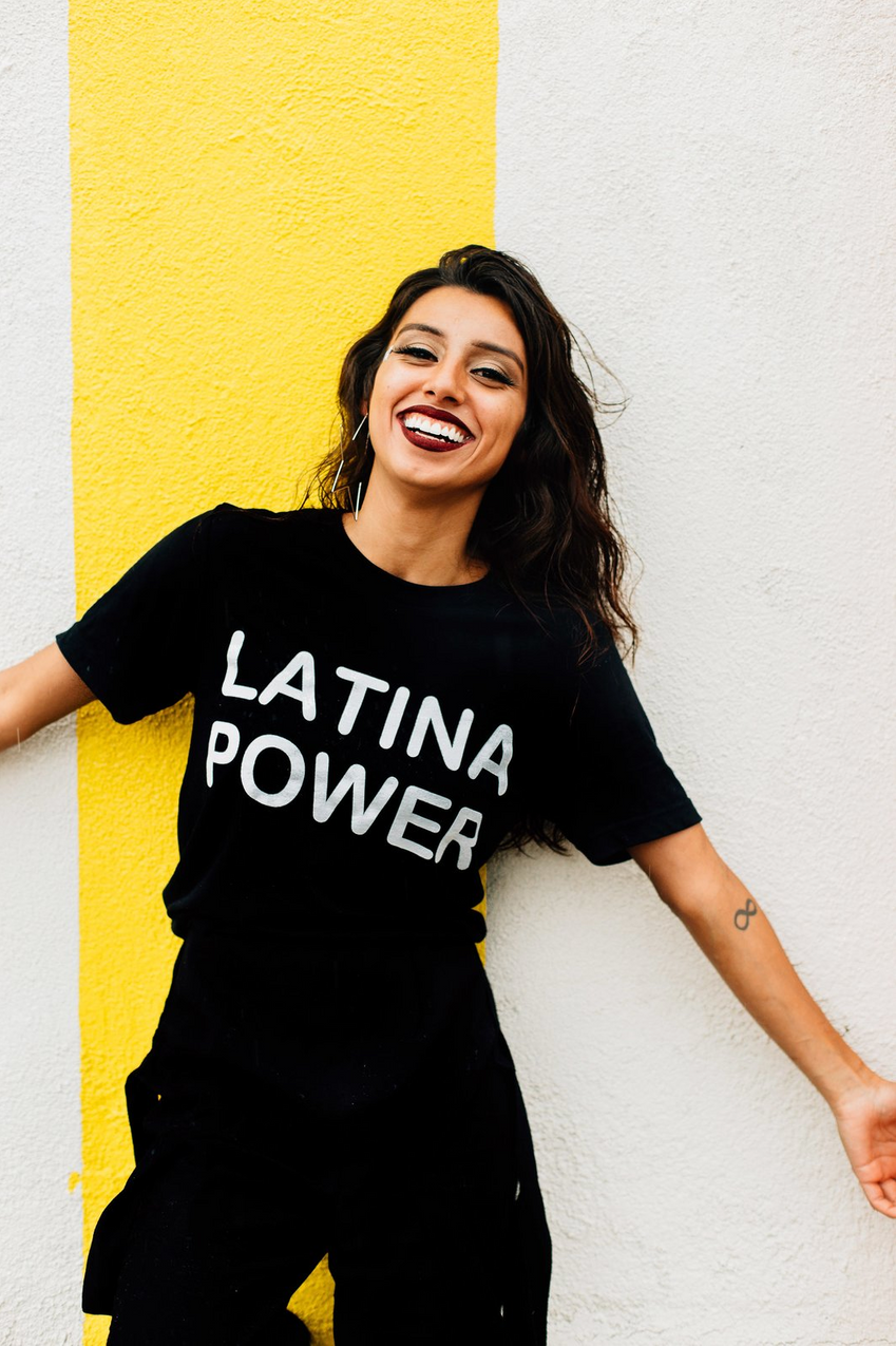 Jen Zeano Designs 'Black Latina Power Shirt'