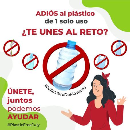 """Reto """"Julio libre de plásticos""""."""