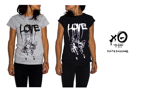 'Love Flows' T-Shirt by PLAY IS SOUL FOOD