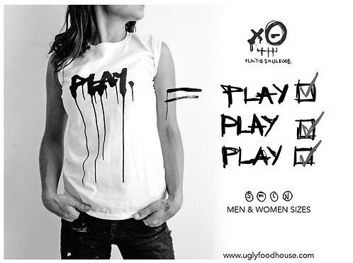 'Play' T-shirt by PLAY IS SOUL FOOD