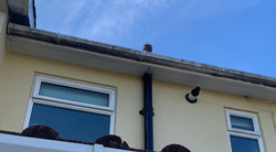 dirty gutter we are about to clean in ottery st mary, Eastdevon
