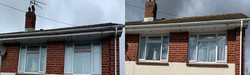 gutter cleaning service in operation in exeter