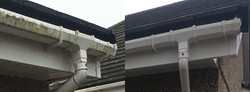 the results our gutter cleaning service can obtain