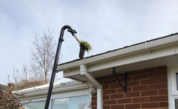 our sky vac gutter cleaner in action