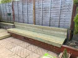decking seat made for customer
