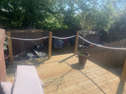 safety barrier attached to decking in Exeter