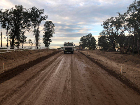 Hunter Valley Estate Stage 1 Road Work commencement