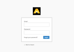 AWARE Wayfinding App Admin Sign-In